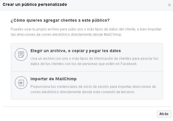 Selección de datos - Facebook Ads