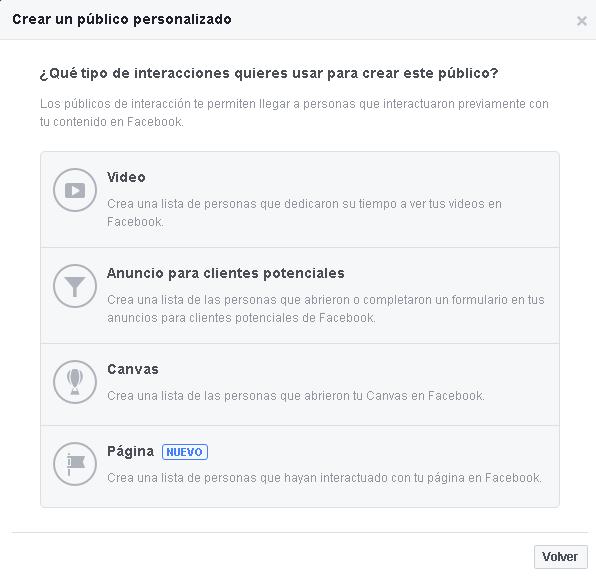 Opciones de Interacción-Público personalizado