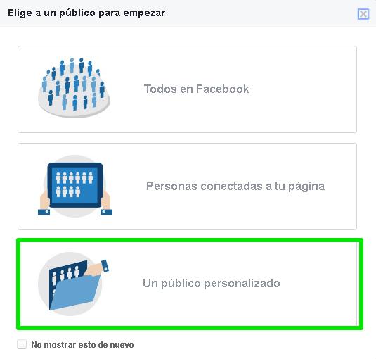 Elegir un público personalizado